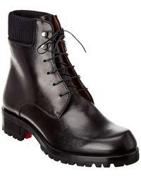 Christian Louboutin Trapman 20 Leather Boot - Black