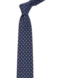 Ferragamo - Navy Turtle Silk Tie - Lyst