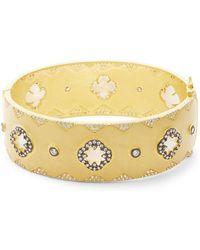 Freida Rothman - Crystal Big Signature Bangle Bracelet - Lyst
