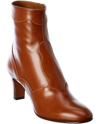 Chloé Patchwork Leather Bootie - Brown