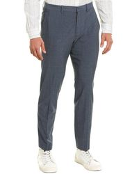 Theory Curtis Delor Wool & Linen-blend Suit Pant - Blue