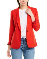 J.Crew Parke Wool-blend Blazer - Red
