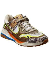 Gucci Ultrapace Leather Sneaker - Brown