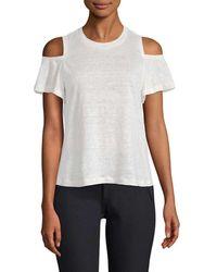 Rebecca Taylor Cold-shoulder Jersey T-shirt - White