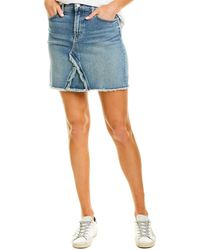 7 For All Mankind 7 For All Mankind Denim Mini Skirt - Blue
