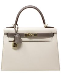 Hermès Craie & Etain Epsom Leather Kelly 28, Nwt - Multicolor