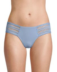 Robin Piccone Sophia Side Tab Bikini Bottom - Green
