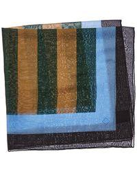Dunhill Striped Silk-blend Foulard - Black