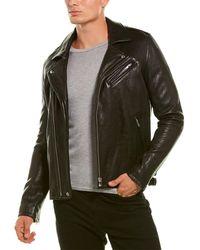 IRO Douhi Leather Biker Jacket - Black