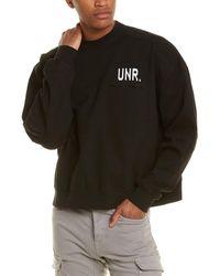 Unravel Project Lax Destroyed Sweatshirt - Black