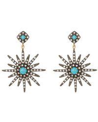 Adornia 14k Over Silver & Silver Crystal Drop Earrings