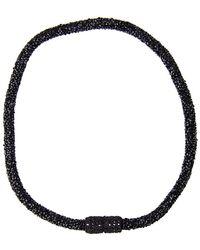 Saachi - Crochet Crystal Choker Necklace - Lyst
