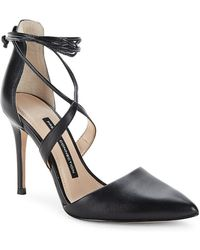 French Connection Elise Strappy Point Toe Pump - Black