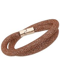 Swarovski Stardust Crystal Bracelet - Brown