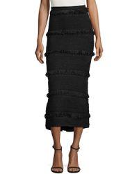 Alice McCALL New Flame Fringed Midi Skirt - Black