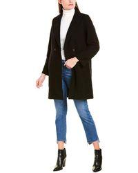 J.Crew Daphne Boiled Wool Topcoat - Black