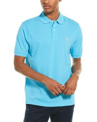 Brooks Brothers Traditional Fit Performance Polo Shirt - Blue