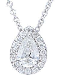 Nephora 14k 0.21 Ct. Tw. Diamond Necklace - Metallic
