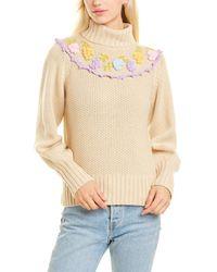LoveShackFancy Rhett Wool-blend Turtleneck Sweater - Natural