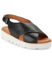 Gentle Souls - Kiki Embossed Leather Platform Sandals - Lyst