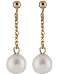 Splendid 14k 7-8mm Freshwater Pearl Drop Earrings - Multicolour