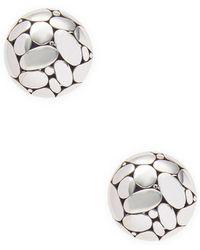 John Hardy - Silver Stud Earrings - Lyst