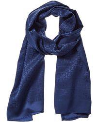 Ferragamo Silk Scarf - Blue