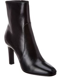 Saint Laurent Jane 90 Leather Bootie - Black