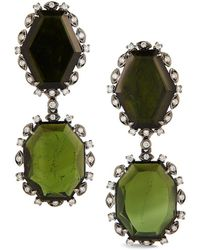Dana Rebecca - Designs Courtney Lauren Rhodium 18.47 Ct. Tw. Diamond & Tourmaline Drop Earrings - Lyst