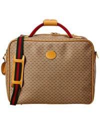 Gucci Brown GG Supreme Canvas Weekend Bag