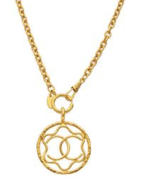 Chanel Gold-tone Squiggle Cc Necklace - Metallic