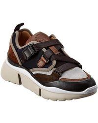 Chloé Sonnie Suede & Mesh Low-top Sneaker - Multicolor