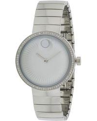 Movado Swiss Edge Diamond Watch - Metallic