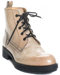 Hermès Leather Lace-up Hiking Boot, Size 37.5 - Multicolor