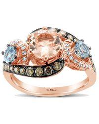 Le Vian ? Chocolatier? 14k Rose Gold 3.05 Ct. Tw. Diamond & Gemstone Ring - Metallic