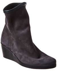 Arche Johaho Leather Wedge Bootie - Grey