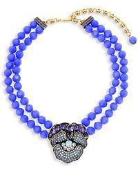 Heidi Daus - Crystal Flowering Pansy Pendant Necklace - Lyst