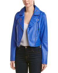 Sam Edelman Starburst Moto Jacket - Blue