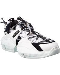 Jimmy Choo Diamond Trail Leather Sneaker - White