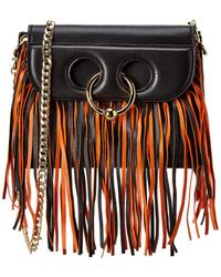 JW Anderson J.w. Anderson Pierce Fringe Mini Leather Crossbody - Black