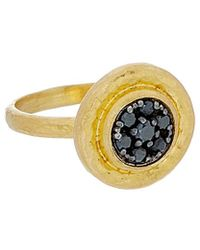 Gurhan Celestial 24k And Rhoidum Over Silver 0.23 Ct. Tw. Diamond Ring - Metallic