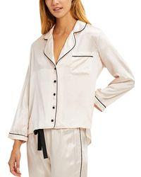 Morgan Lane Kinsley Silk-blend Night-shirt - Natural