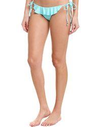 Shoshanna Swimwear Ruffle String Bikini Bottom - Green