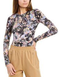 BCBGMAXAZRIA Floral T-shirt - Black
