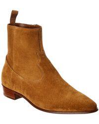 Céline Western Suede Boot - Brown