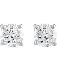 Diana M. Jewels . Fine Jewellery 14k 1.50 Ct. Tw. Diamond Earrings - Metallic