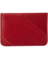 Diane von Furstenberg Leather Tuxedo Card Case - Red