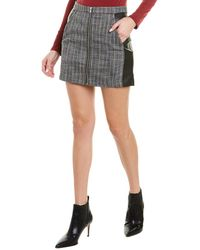 BCBGeneration Paneled Mini Skirt - Black
