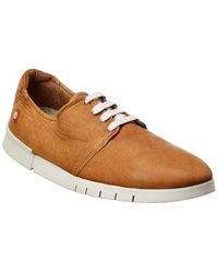 Softinos Softinos By Fly London Cap Leather Trainer - Brown