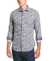 Robert Graham Hallock Classic Fit Woven Shirt - Blue